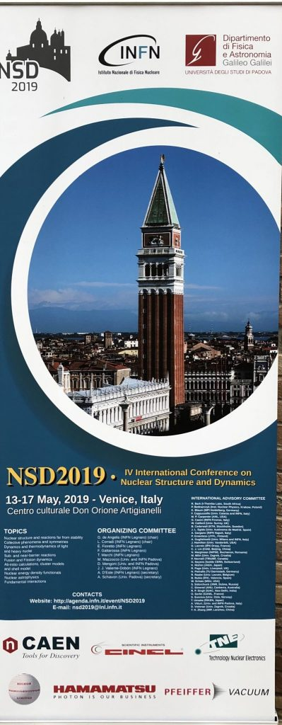 IV NSD – INTERNATIONAL CONFERENCE ON NUCLEAR AND DYNAMICS 13th-17th MAY 2019